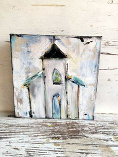 Church painting abstract church painting by sunshinegirldesigns