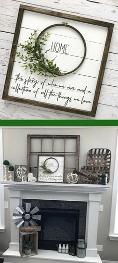 "Beautiful shiplap wreath ""HOME"" sign. Would go great with farmhouse decor #ad"