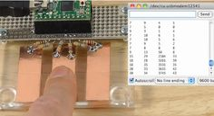Simple touch sensors with the Arduino CapSense library