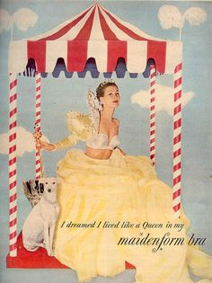 vintage bra ad - live like a queen