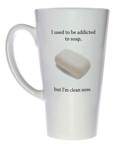 Or am I? I'm so confused... Technicam notitia (the technical bits) - Mug holds 17oz / 500ml of your favorite hot or cold beverage. - White exterior and interior. - Lead free. - Dishwasher and microwav