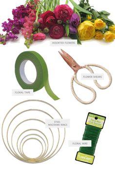 wedding diy project for floating wedding wreaths