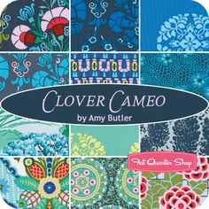 Clover Cameo Fat Quarter Bundle Amy Butler for Westminster Fibers - Fat Quarter Shop...beautiful blues