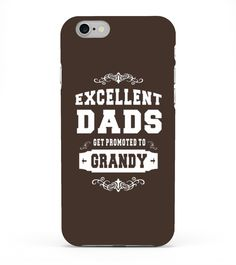 Kids Excellent Dads Promoted To Grandy Grandpa Gift Men T-shirt 8 Black