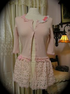 Shabby Pink Cashmere Sweater Fairy Tale by TatteredDelicates, $84.00