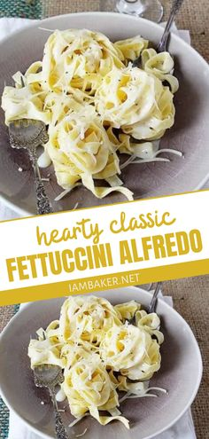 An easy pasta recipe you should make for dinner tonight! Classic Fettucine Alfredo is a quick and easy meal with the perfect consistency and flavor. It is made with just a few ingredients yet tastes like your favorite restaurant's. Make this comfort food for dinner!