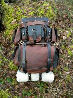 """ Behemoth "" leather bushcraft pack by Ryan Townsend @ www.deepwoodsleather.com or Deepwood Handcraft on facebook"