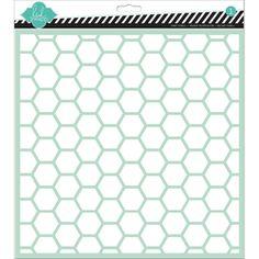 "Heidi Swapp Stencils 12""x12"" - Hexagon"