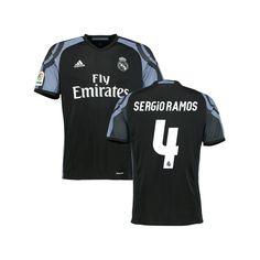 Sergio Ramos Real Madrid adidas Youth 2016/17 Third Replica Jersey - Black - $84.99