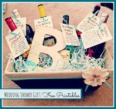 I love this Milestone Wine Basket Bridal Shower Give a basket