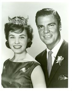 """BERT PARKS & MISS AMERICA ORIGINAL 1959 NBC TV.... Remember him singing """"Here she comes, Miss America....."""" This was a big special event every year."""