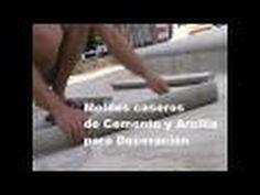 Como hacer moldes caseros de cemento y arcilla expandida. - YouTube
