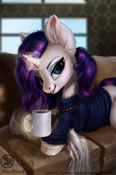 Rarity- Winter morning by Obpony.deviantart.com on @DeviantArt