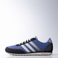 adidas V Racer Shoes 13 Blue / Ftwr White / Power Red #shoes #adidas #covetme