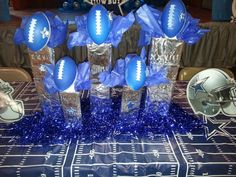 Dallas Cowboys Birthday Party Each Trophy Represents And Has On It A Year