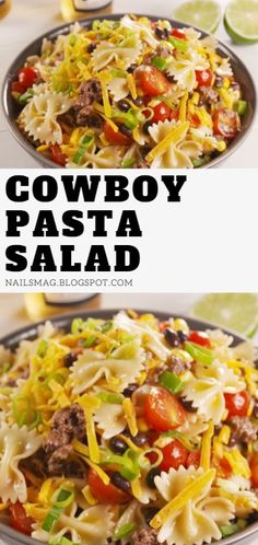 Cowboy pasta salad, Cowboy lettuce salad, Cowboy salad recipe, Salad sauce, Vegetable salad, Delicious salads, Savory salads, Pasta salad with italian dressing, Healthy pasta salad, Italian pasta salad recipes, Easy pasta salad recipes, Cowboy macaroni salad. #cowboy #pasta #salad #healthy #recipes #macaroni
