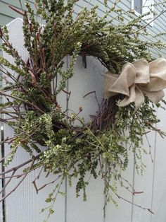 Wreath Green Wreath Preserved Wreath Birch Wreath Twig Wreath Natural Wreath Home Decor Wall Decorations Gift by donnahubbard on Etsy Thanksgiving Wreaths, Autumn Wreaths, Easter Wreaths, Holiday Wreaths, Holiday Ideas, Twig Wreath, Green Wreath, Wreath Crafts, Acorn Wreath