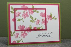 Stampin' Up Handmade Thank You Card