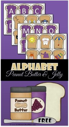 FREE Alphabet Peanut Butter and Jelly - alphabet sound recognintion activity for Prek, Preschool and Kindergarten Preschool Literacy, Kindergarten Reading, Literacy Activities, Teaching Resources, Alphabet Games For Kindergarten, Literacy Stations, Kindergarten Worksheets, Teaching Letters, Preschool Letters