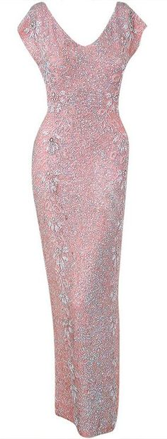 Gene Shelly Pink Sequin Gown