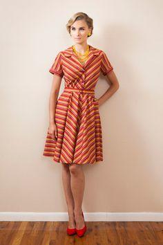 Gorgeous striped shirt dress