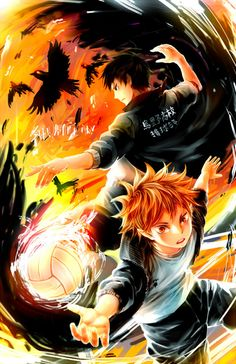 Kageyama Tobio  Hinata Shouyou - (CROWS by Shumijin) | Haikyuu!! #anime
