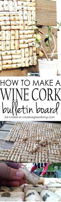 This DIY project with used wine corks is so EASY but it looks awesome! Simple step-by-step tutorial to teach you how to make it!