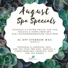#medspa promos are now available too for August! Text us 📱 8474587546 . . . .  #medicalaesthetics #medispa #laser #cosmeticsurgery #lipfillers #glowingskin #skincareroutine #bodycontouring #healthyskin #acne #nurseinjector #weightloss #medspalife #beforeandafter #wrinkles #chemicalpeel #skintightening #dermaplaning #nonsurgical #wellness #lipinjections #injections #prp #health #voluma #beautiful #covid #skinrejuvenation #microdermabrasion Spa Specials, Lip Injections, Chemical Peel, Lip Fillers, Body Contouring, Skin Tightening, Glowing Skin, Healthy Skin, Face
