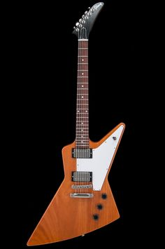 """2018Gibson Explorer; Antique Natural finish; includes original Gibson hard case. Guitar is clean! No fretwear. Plastic still on the pickguard. Straight neck. Plays great. Photos are of the actual guitar for saleMade In: USANeck: Slim TaperWeight: 8.11 lbsFingerboard Radius: 12""""Nut Width: 1 11/16..."""