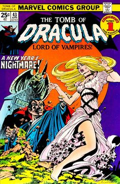 The Tomb of Dracula (No.43, April 1976) Cover Art by Bernie Wrightson