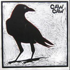 woodcut of a crow Crows Drawing, Linocut Prints, Art Prints, Raven Bird, Crow Art, Bird Artwork, Textile Fiber Art, Crows Ravens, Spirit Animal