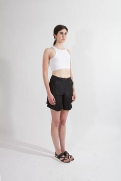 Shop Young & Able Emerging Designer: http://www.shopyoungandable.com RELIQUE VOLANS TOP - WHITE $90.00