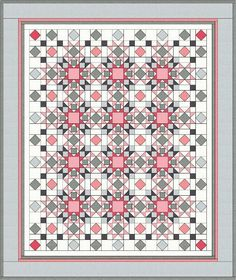 Strawberry Frosting from Modern Welsh Star Quilts, Scrappy Quilts, Easy Quilts, Quilt Blocks, Amish Quilts, Quilting Projects, Quilting Designs, Sewing Projects, Sewing Tutorials