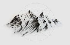 geometric mountains - Google Search