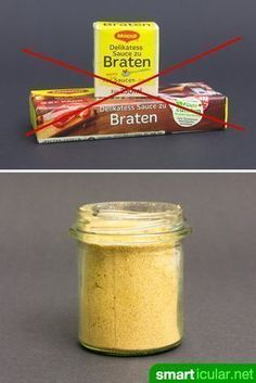 Und Tschüss Soßenpulver: Instant-Bratensoße selber machen Goodbye to artificial flavors and other additives! With this simple recipe you can easily make your own stirring powder for dark sauces. Weigt Watchers, Maggi Fix, Cuisines Diy, Homemade Sauce, Pudding Recipes, Diy Food, Soul Food, Food Hacks, Clean Eating
