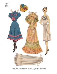 """65 A <> ELIZA 1950  <><>  Lucy Eleanor Leary's """"BOSTON SUNDAY POST"""" Newspaper Paper Dolls 1940s & 1950s"""