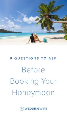 6 Questions to Ask Before Booking Your Honeymoon - We've outlined eight key points of consideration to help you determine the best honeymoon for your travel style as a couple. Read them on WeddingWire! Honeymoon On A Budget, Best Honeymoon Destinations, Romantic Destinations, Wedding Planning Tips, Wedding Tips, Questions To Ask, This Or That Questions, Tumblr Travel, Casual Wedding