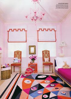 love that Emilio Pucci Rug in combination ... <3