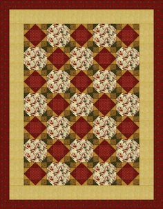 Free Quilt Patterns for Beginning to Experienced Quilters: Snowballing Economy Quilt Pattern