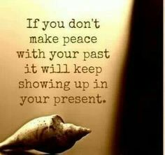 Don't put off making peace.