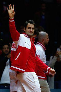 Roger Federer Photos - France v Switzerland - Davis Cup World Group Final: Day Three - Zimbio