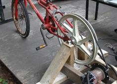 Cool DIY Video: How to build a Homemade Bicycle generator from  Junk . Outputs 100 watts,45v DC !!