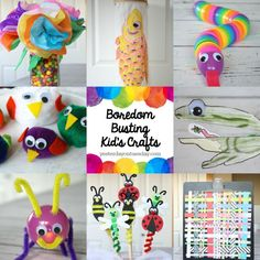 Boredom Busting Kid's Crafts: Cool projects for kids to create-- great for Spring Break!
