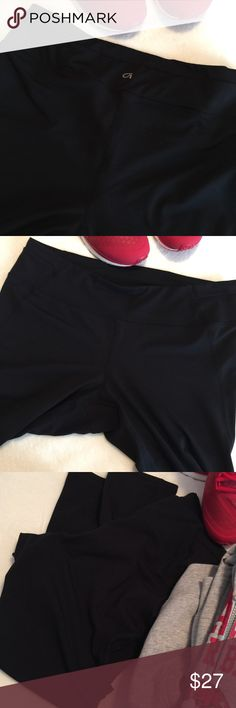"""GapFit Athletic/Lounge Pants Athletic or Lounge Pants by Gap, GapFit per tag. Black, Size L. Measurements while flat: Waist 16.25"""", Inseam 27"""", & leg opening 9"""". Waist has a 3 inch band that encases the stretch waistband. The leg portion is form fitting (but my legs are like tree 🌲 trunks😂), thus I'm Poshing. Worn & washed once so in EUC! GAP Pants"""