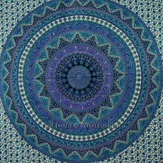 Mandala Tapestry Hippie Tapestries Indian Wall Tapestry Bedspread Queen Bedding #Traditional Queen Bedding, Queen Beds, Mandala Tapestry, Wall Tapestry, Hippie Tapestries, Bohemian Room Decor, Bedspread, Beach Mat, Outdoor Blanket