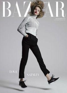 Natalia Vodianova by Jean Baptiste Mondino for the cover of Harpers Bazaar UK September 2013