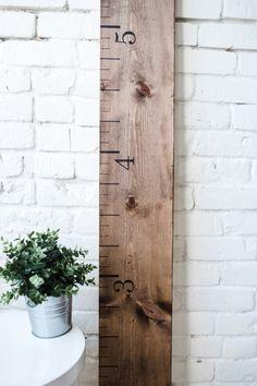 Wooden Growth Chart Ruler: Rustic Walnut  Growth by TheWhiteLoft