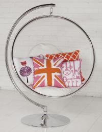 swinging bubble chair with stand