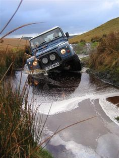 Land Rover 90 County Station Wagon. TheLand Rover Defender(initially called theLand Rover NinetyandLand Rover One Ten) is aBritishfour-wheel-driveoff-roadutility vehicle developed from the originalLand Rover Serieslaunched in 1948. In October 2013 Land Rover announced that production would end in December 2015, after a continuous run of 67 years.