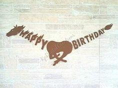 Horse happy birthday banner, Horse party decorations #horsebirthdaybanner #horseparty #horseracing Happy Birthday Horse, Snoopy Birthday, Horse Birthday Parties, Cowboy Birthday Party, Farm Birthday, Happy Birthday Banners, Country Birthday, Cowgirl Party, Birthday Ideas